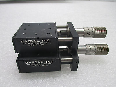 Lot of 2- Daedal / Parker Linear Positioner Stages w/ Micrometers