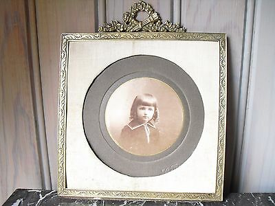 So Lovely ! French Brass Antique Photo Frame Shabby Chic
