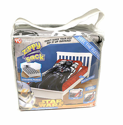 Disney Star Wars Vader Zippy Sack Twin Comforter w/ Fitted Sheet & Pillowcase
