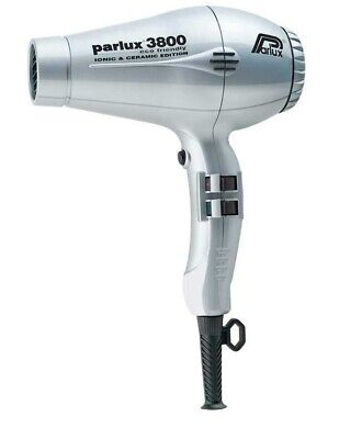 Parlux Hair Dryer 3800 Eco Friendly Silver Metallic 2100 Watt