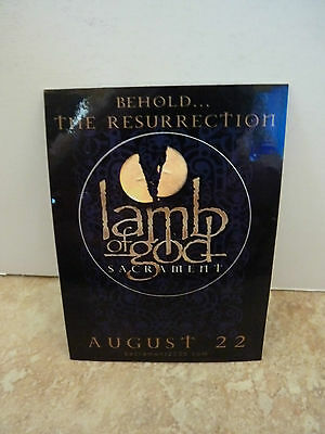 "Lamb of God Scrament  RARE Luggage 4"" Sticker PROMO 2006"