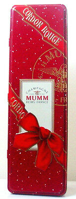 Empty Vintage MUMM CORDON ROUGE CHAMPAGNE TIN GIFT BOX - Collectible