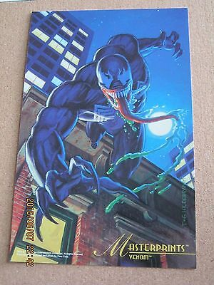 Marvel Master Prints 1994 Fleer Hildebradnt - Venom 6 1/2 x 10 - Spider-Man Foe