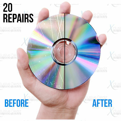 (20) Mail-In Scratch Removal & Disc Repair Service, Games, DVDs, CDs, Blu-rays