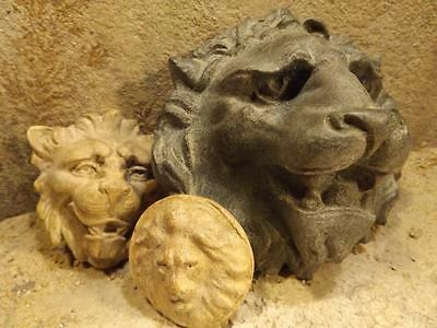 Lion wall statues - Venetian + Medieval Gargoyle style art. Gothic Architectural