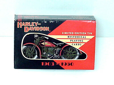 1997 Harley-Davidson Motorcycle Tin and Playing Cards