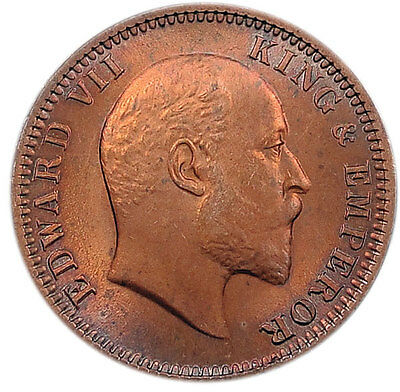British India 1/4 Anna 1905 Red Au/unc = Edward Vii =