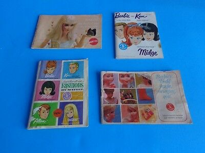 GROUP OF 4 VINTAGE BARBIE FASHION BOOKLETS- 1960s