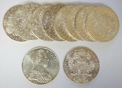 Lot of Ten (10) 1780 Austria Maria Theresa Silver Thaler BU #5