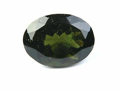 15.83cts STANDART CUT OVAL moldavite faceted cutted gem BRUS1604