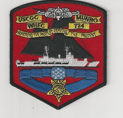Us Coast Guard Patch - Whec 724 Uss Munro - Only Uscg Medal Of Honor Recipient