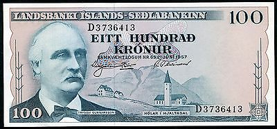 ICELAND 100 Kronur Law 1957 P-40 UNC uncirculated banknote