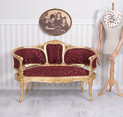 Baroque Sofa Rouge Or Banquette Antique Sofa Canapé Baroque Marie Antoinette
