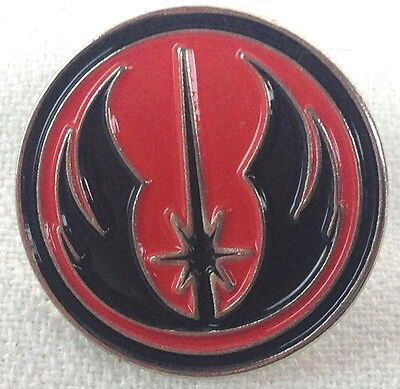 Jedi Academy Black with Red Background - Star Wars Series - Enamel Pin