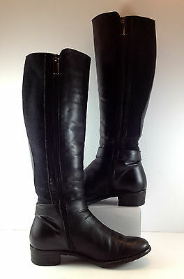 Aquatalia Black Leather Knee High Lined Boot Womens Size US 6.5M
