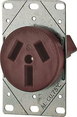 New Cooper 32-Box 125/250 Volt 50 Amp 3 Pole 3 Wire Receptacle 6174635