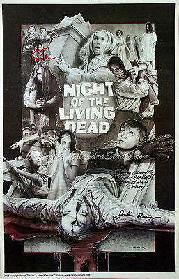 Night of the Living Dead Collage - Cast/Artist Hand Signed 11x17 Print!