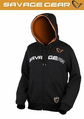 Savage Gear Hooded Sweat Jacket - Hoodie Pullover, Angeljacke mit Kapuze
