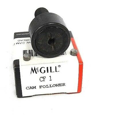 "Nib Mcgill Cf-1 Cam Follower 1.000"" Od X .625"" W, 1.000"" Stud, 7/16-20 Thread"