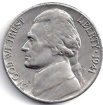 1941 D Jefferson Nickel Finish Your Book With This Circulated Coin #5006