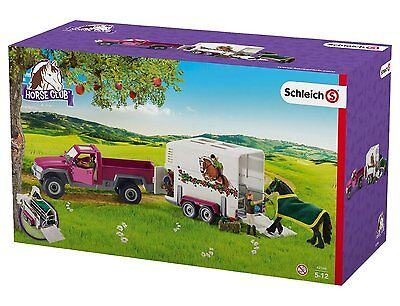 Schleich Horse Club Pick Up Truck with Horse Box Trailer - 2017 MODELS - NKT