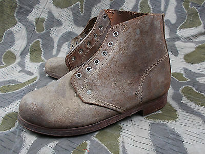d7c14bca44f WW2 GERMAN ARMY Luftwaffe Elite Soldiers Low Ankle Boots Shoes /w Heel Irons
