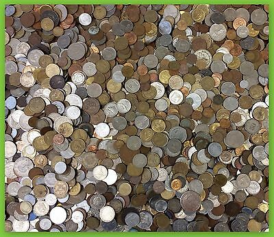 Unsearched Foreign Coin Lot! ONE FULL POUND of World Coins! PLUS CURRENCY!