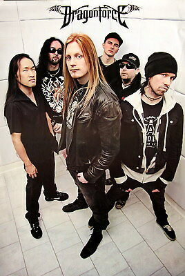 DRAGONFORCE MUSIC POSTER FROM ASIA - Band Standing In White Room - Metal Music