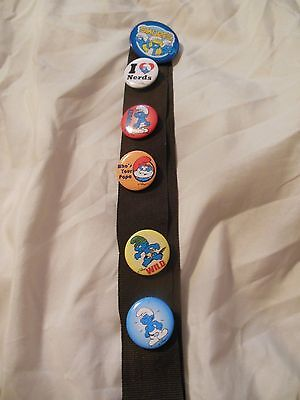 Lot of 6 vintage Smurf Pins_Flair_Smurfs