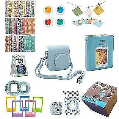 Fujifilm Instax Mini 9 or Mini 8 Instant Camera Accessories Bundle 11 Piece Gift