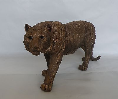Large Bronze Tiger Figurine/Statue/Ornament * NEW * African Safari 29 cm
