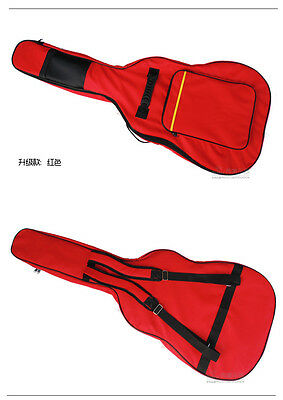 "Acoustic Electric Guitar Double Straps Padded Soft Case big Bag Backpack 40""41"""