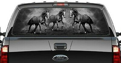 Decal Truck - Horses - Graphic Decal/rear Ute/canopy Window -Running Horses