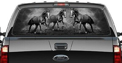 Western Horse - Graphic Decal/rear Ute/canopy Window -Running Horses