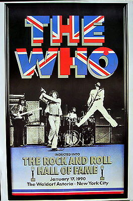 """THE WHO """"1990 ROCK & ROLL HALL OF FAME"""" POSTER FROM ASIA - Rock, Hard Rock Music"""