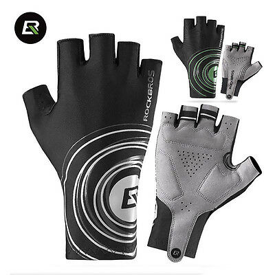 RockBros Cycling Sports Half Finger Gloves Road Bike Bicycle Half Finger Gloves