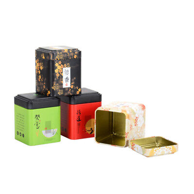 NEW Chinese Style Metal Sugar Coffee Tea Tin Jar Container Candy Sealed Cans Box