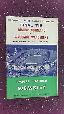 Bishop Auckland V Wycombe Wanderers 1956-57