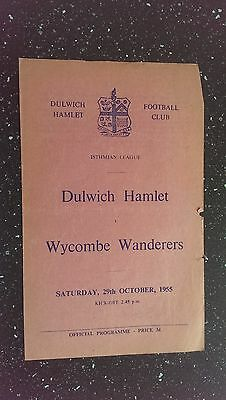Dulwich Hamlet V Wycombe Wanderers 1955-56