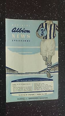 West Bromwich Albion V Grenchen 1959-60