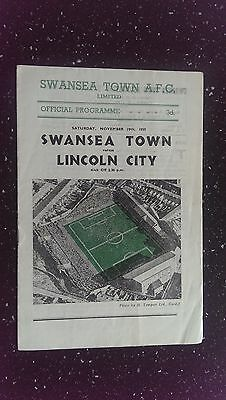 Swansea Town V Lincoln City 1955-56