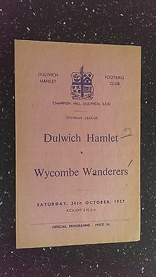 Dulwich Hamlet V Wycombe Wanderers 1957-58