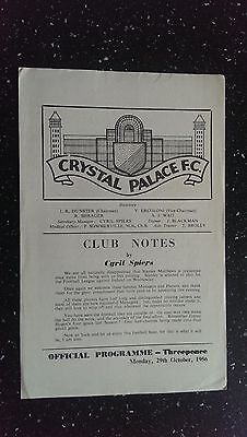 Crystal Palace V Managers Xi 1956-57