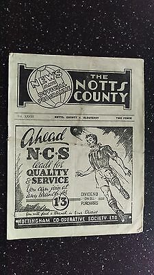 Notts County V Aldershot 1948-49