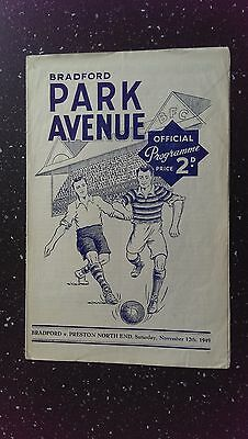 Bradford Park Avenue V Preston North End 1949-50