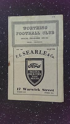 Worthing V Shoreham 1951-52