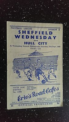 Sheffield Wednesday V Hull City 1949-50