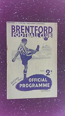 Brentford V Copenhagen Combination 1946-47