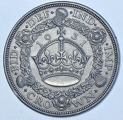 Rare 1931 Wreath Crown British Silver Coin From George V [Only 4056 Struck]