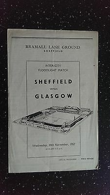 Sheffield V Glasgow 1957-58